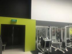 Hallway to Weights Room