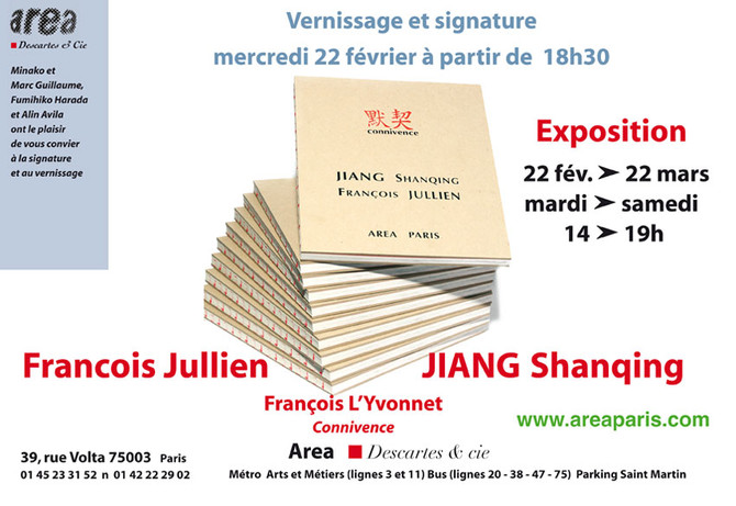 CONNIVENCE,                                      Jiang Shanqing / François Jullien