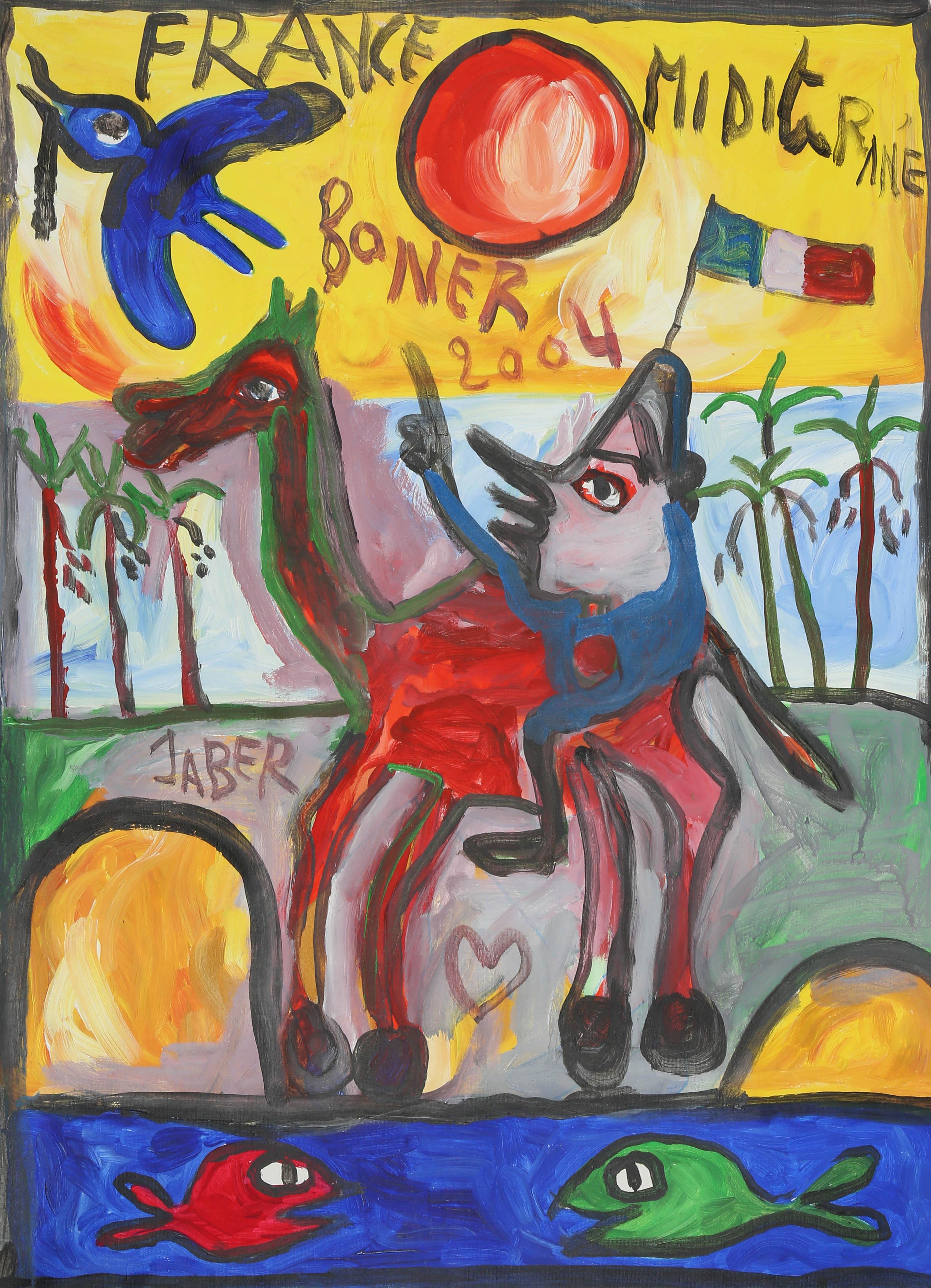 jaber el mahjoub, 92x68 cm, acrylique, 2