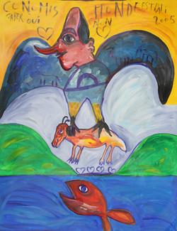 jaber el mahjoub, 90x79 cm, acrylique, 2
