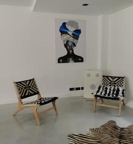Chaise et tapis design