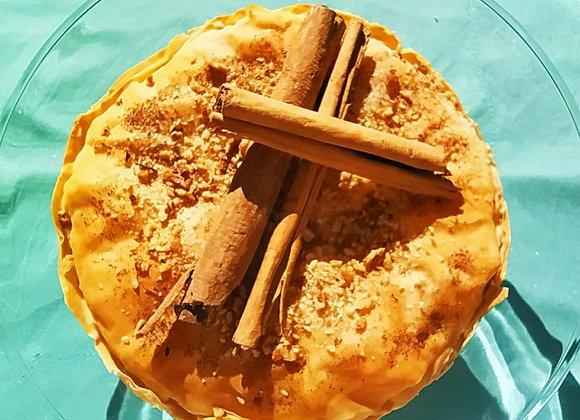 Tarta de pera y ciruela