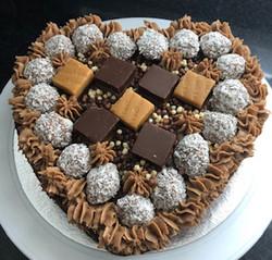 """10"""" Valentines Coconut Chocolate Fudge C"""
