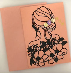 Back of Pretty Lady - Mothers Day Card