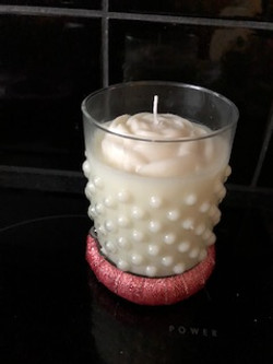 Vanilla Scented Rose Candle