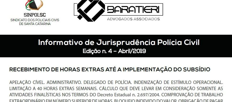 INFORMATIVO DE JURISPRUDÊNCIA POLÍCIA CIVIL – 4ª EDIÇÃO