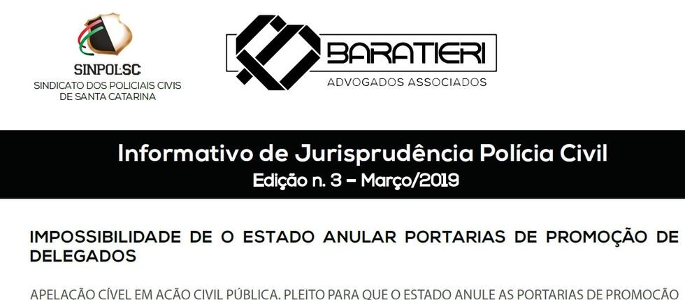 INFORMATIVO DE JURISPRUDÊNCIA POLÍCIA CIVIL – 3ª EDIÇÃO