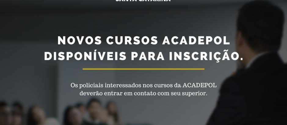 Novos cursos Acadepol disponíveis para inscrição