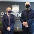 Vídeo: Deputado Mauricio Eskudlark visita a sede do SINPOL-SC