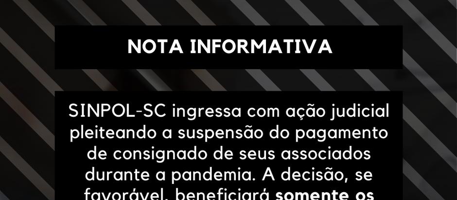 SINPOL-SC ingressa com ação judicial para a suspensão do pagamento de consignado