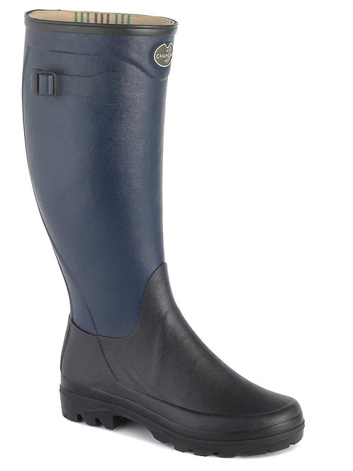 Le Chameau Ladies Marine/Noir Manoir Welly Boots
