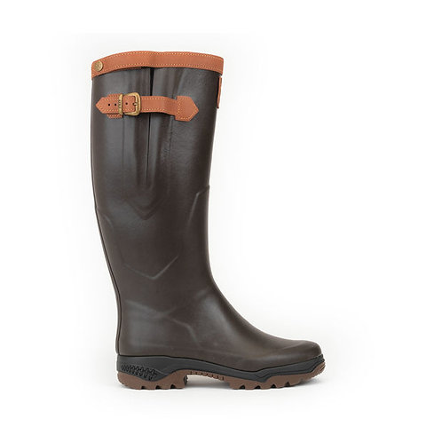 Aigle Brown Parcours 2 Signature Welly Boots