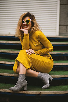 women-s-yellow-long-sleeved-dress-105569
