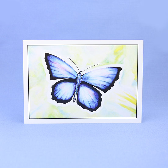 Holly Blue - Original Art Butterfly Greetings Card