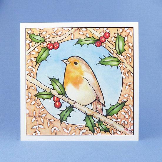 Winter Robin - Original Art Greetings Card