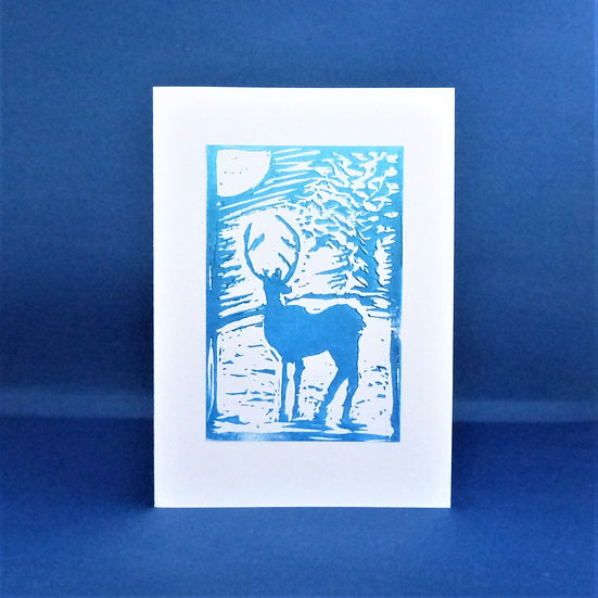 Stag Card - Moonlight