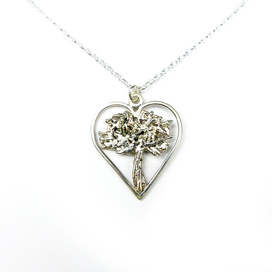 'Heartwood' Sterling Silver Tree Pendant Necklace