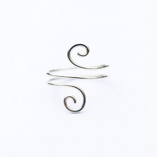 Sterling Silver Open Swirl Ring