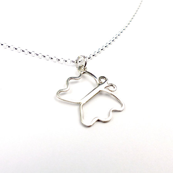 Butterfly Pendant Necklace - Handmade In Sterling Silver
