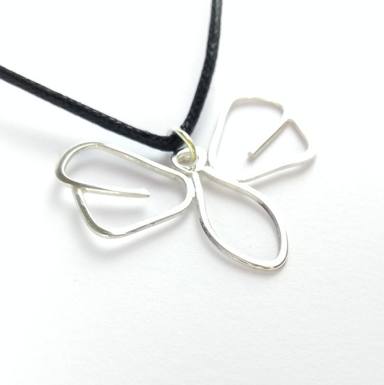 Large Sterling Silver Butterfly Pendant