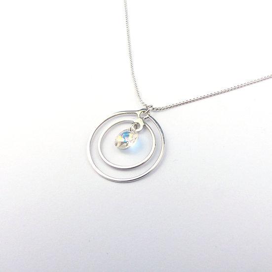 Circles Swarovski Crystal Pendant Necklace