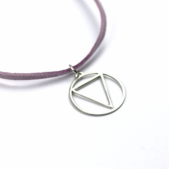 'Water' Handmade Sterling Silver Element Pendant Necklace