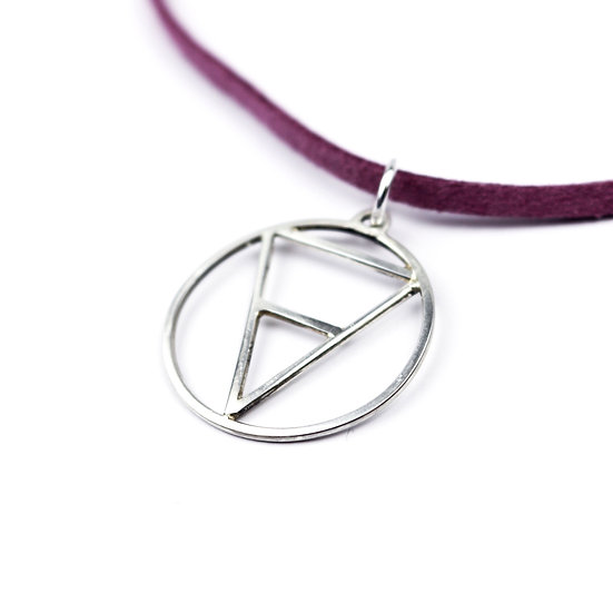 'Earth' Handmade Sterling Silver Element Pendant Necklace