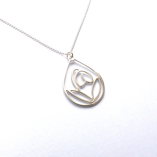 Sterling Silver Snowdrop Pendant Necklace
