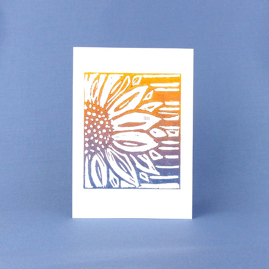 Sunflower Card - Autumn