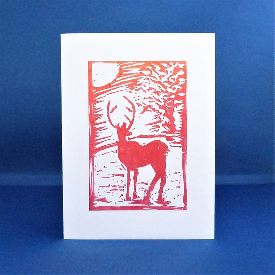 Stag Card - Sunset