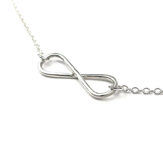 'Eternity' Sterling Silver Pendant Necklace