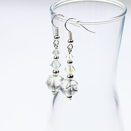 Crystal Beaded Drop/Dangle Earrings