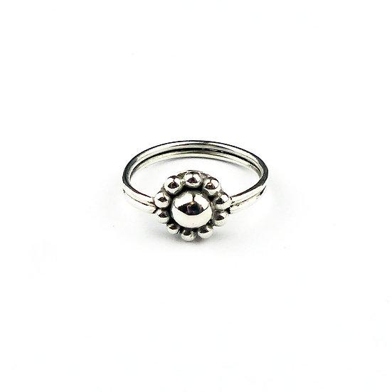 Handmade Sterling Silver Flower Ring