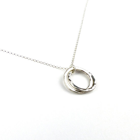 'Unity' Sterling Silver Handmade Pendant Necklace