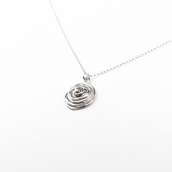 Handmade Sterling Silver Rose Pendant Necklace