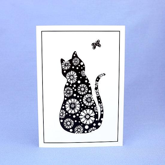 Daisy The Cat - Original Art Greetings Card
