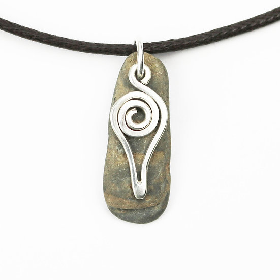 Handmade Silver & Stone Tribal Style Necklace