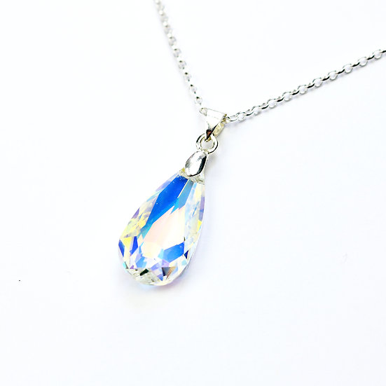 Swarovski Teardrop Crystal Pendant Necklace