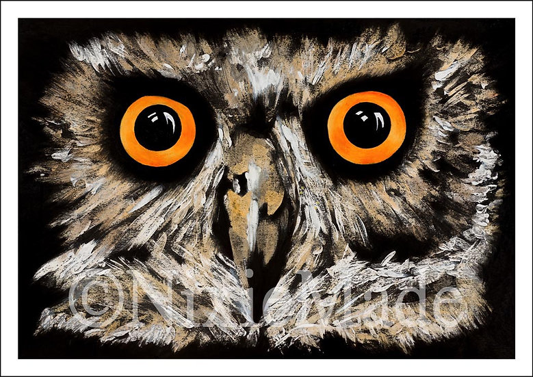 Dave The Owl - Original Art Giclée Print