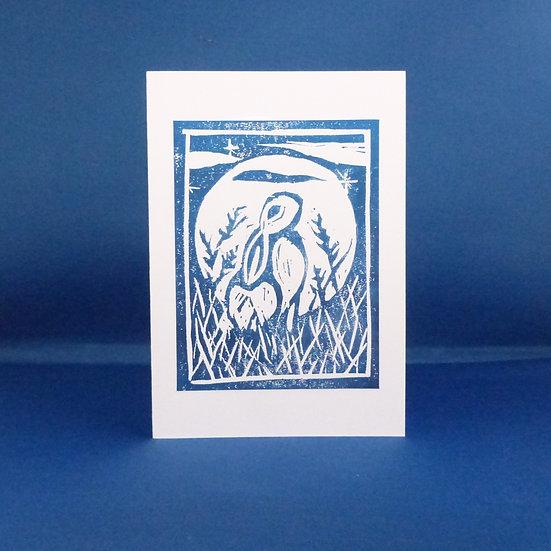 Wild Hare Card - Midnight
