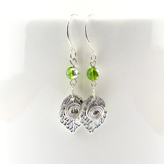 Leaf and Spiral Earrings