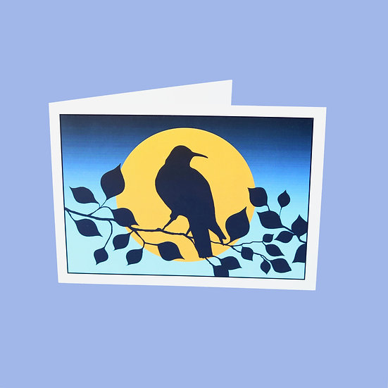 Full Moon - Original Art Greetings Card