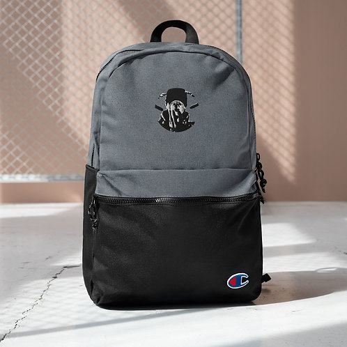Graphwize Crystal Ball Embroidered Black & White Champion Backpack