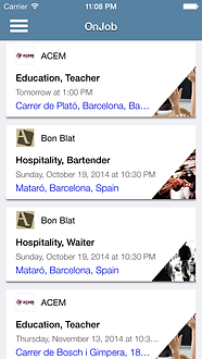 App iOS   OnJob