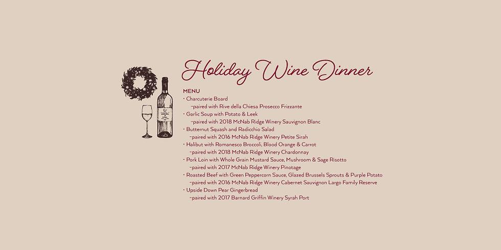 Holiday Wine Dinner
