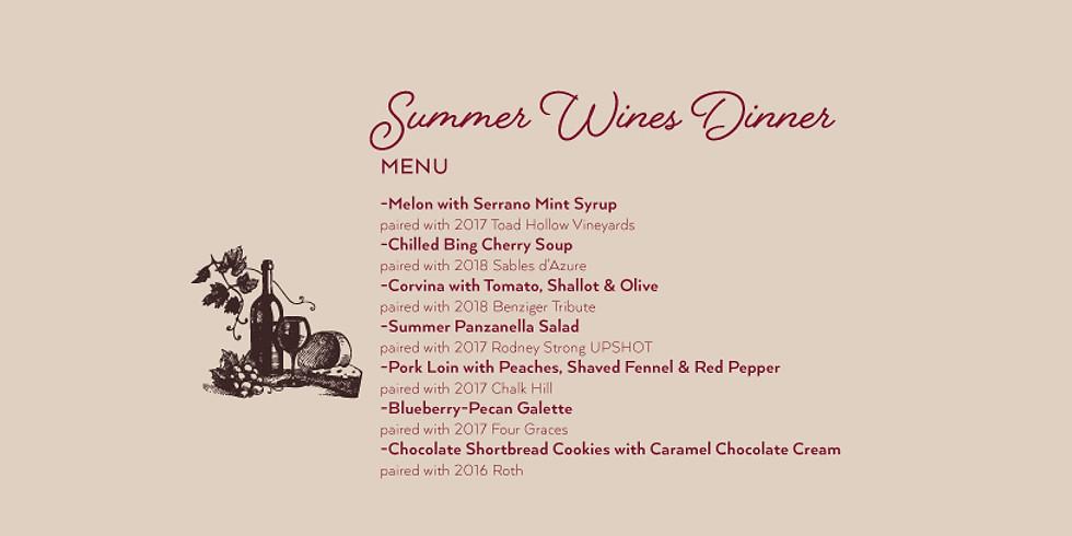 Summer Wines Dinner