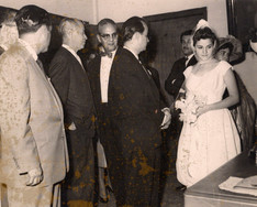 Matrimonio María Eugenia Villalba+Sanoja Hernández. Leandro Vera Fortique, Jóvito Villalba, Gustavo Machado, Elsa Vera, Luis Salazar