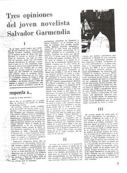 Tres opiniones de Salvador Garmendia