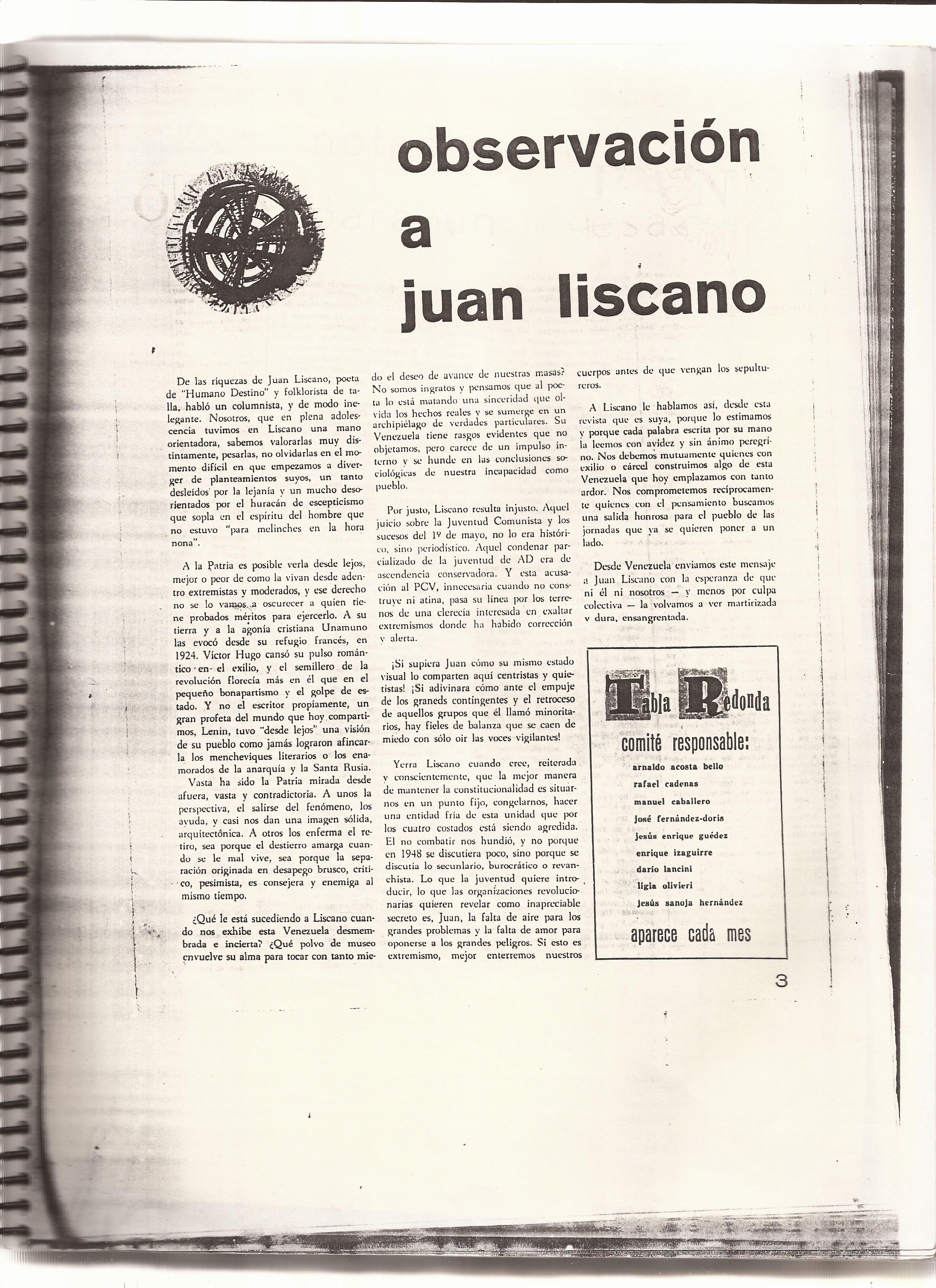 Observaciona Juan Liscano