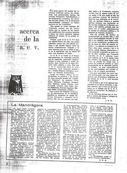 Acerca de la AEV y Mandragora 7